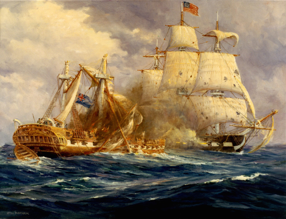 August 19, 1812: the first victory at sea by USS Constitution over HMS Guerriere.