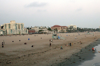 The beach in Santa Monica, Calif.