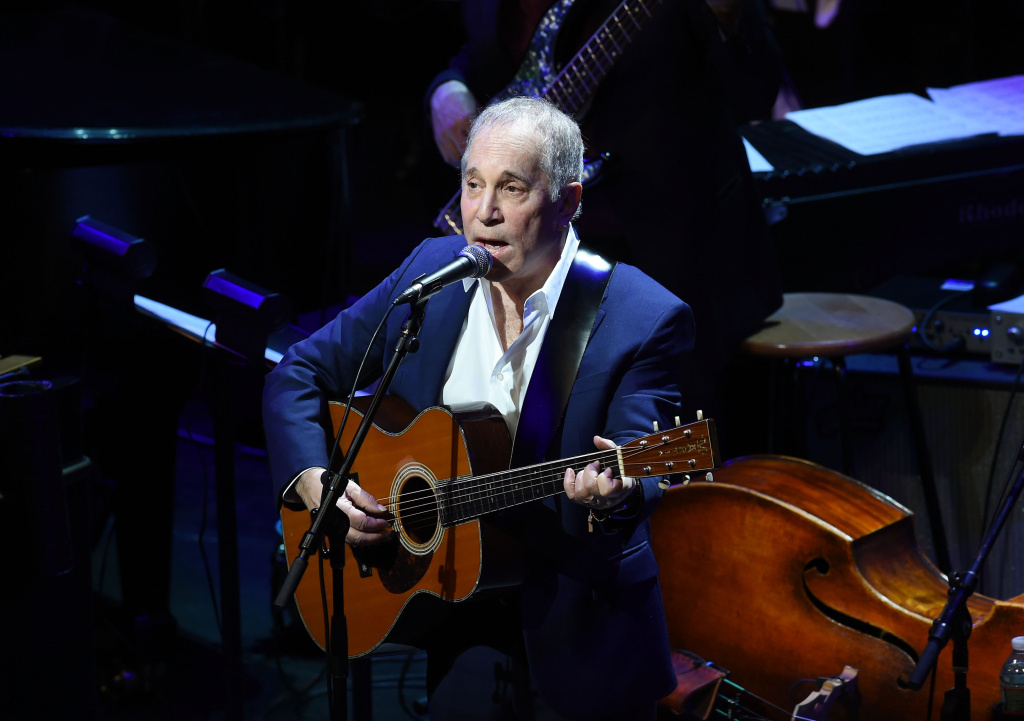 Paul Simon performing at Lincoln Center in 2015 in New York City.