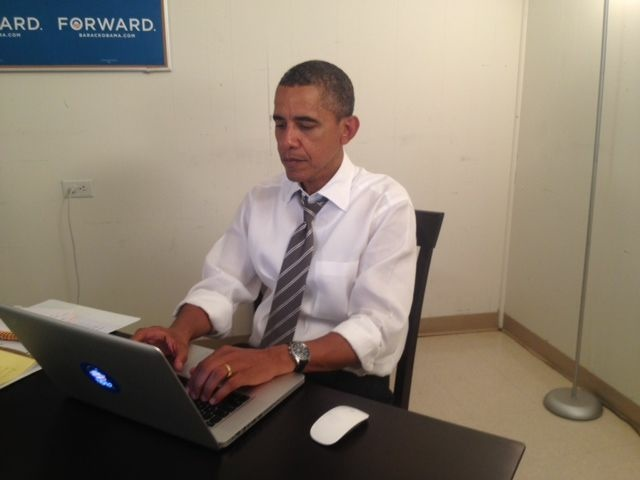 President Barack Obama answering questions on Reddit on Wednesday.