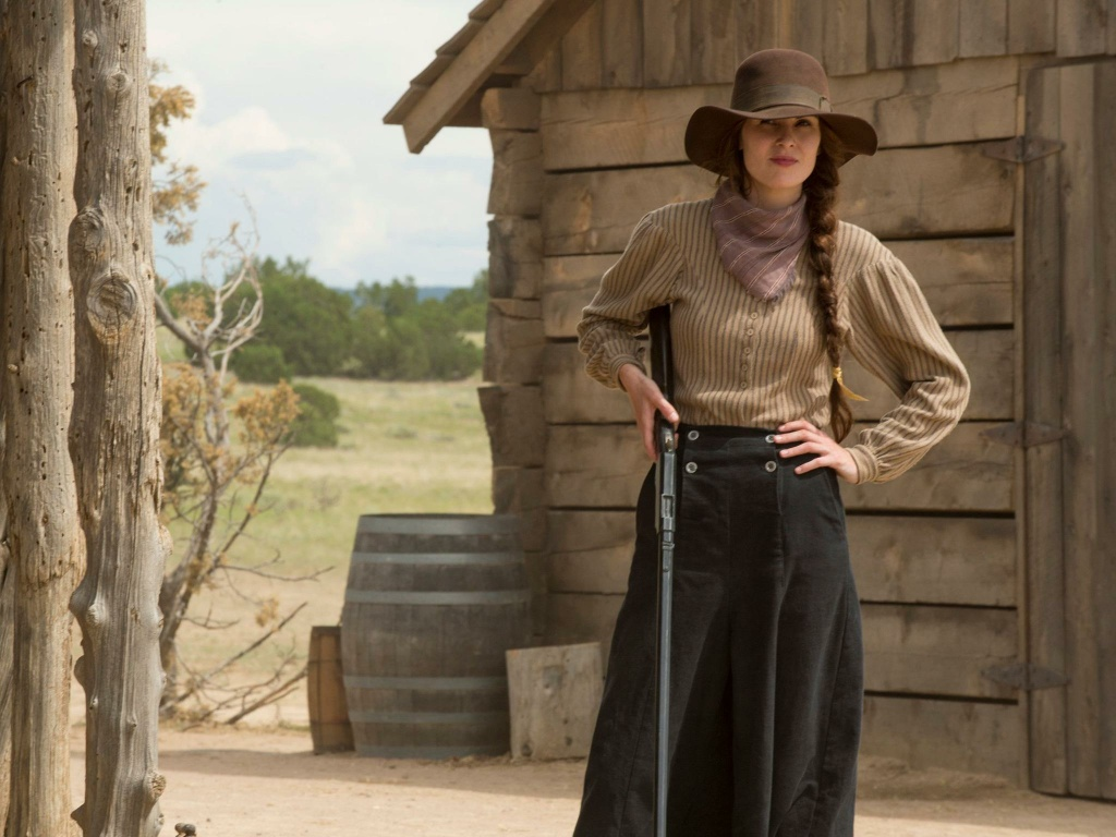 Still from the HBO drama, Godless starring British actress Michelle Dockery.