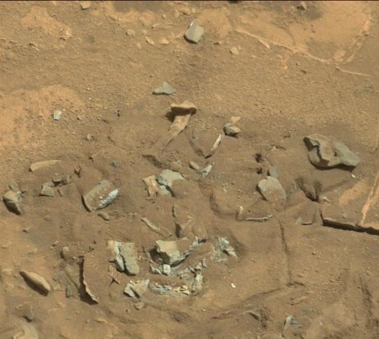 This picture was taken by the rover Curiosity during its 719th day on Mars (August 14, 2014). For more photos, visit http://www.midnightplanets.com/web/MSL/image/00719/0719MR0030550060402769E01_DXXX.html