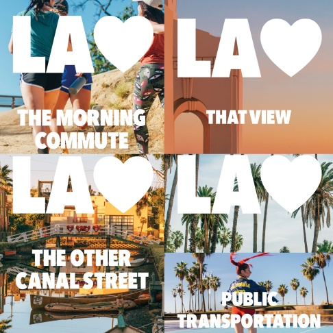 Some the L.A. <3 posters you can see around New York city.