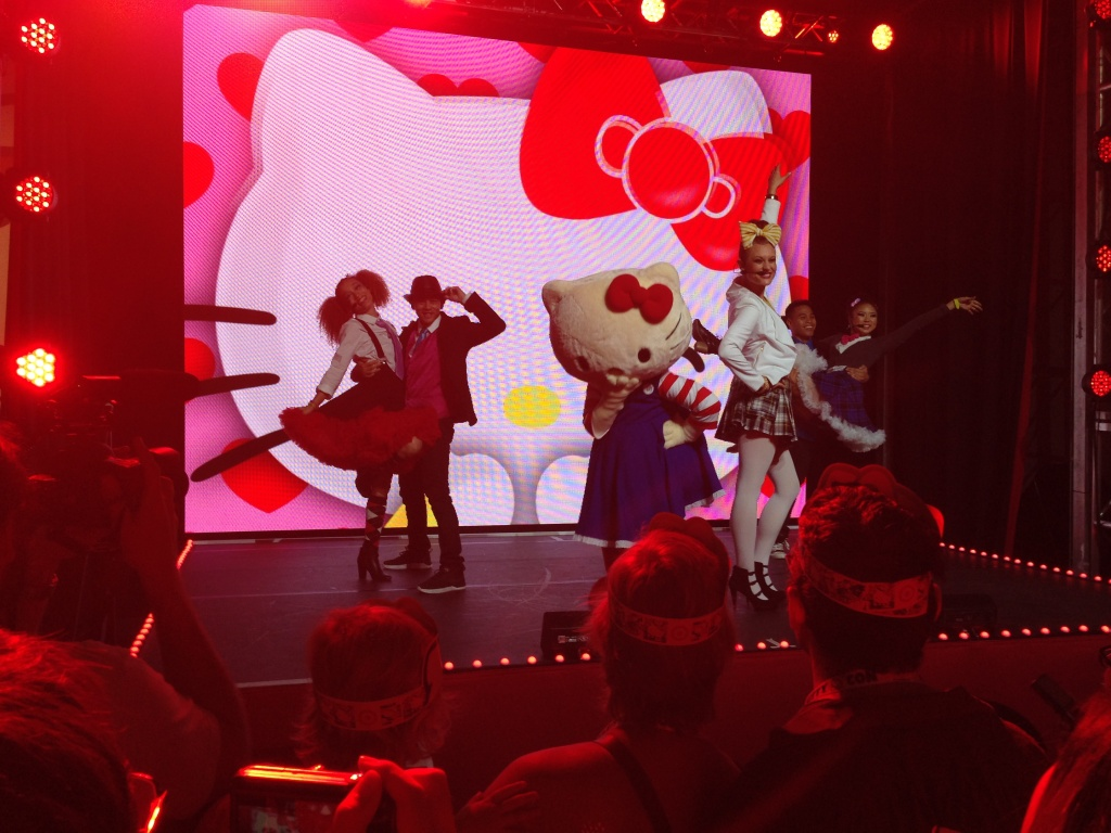 Fans were treated to regular stage shows featuring Hello Kitty and her dancers.