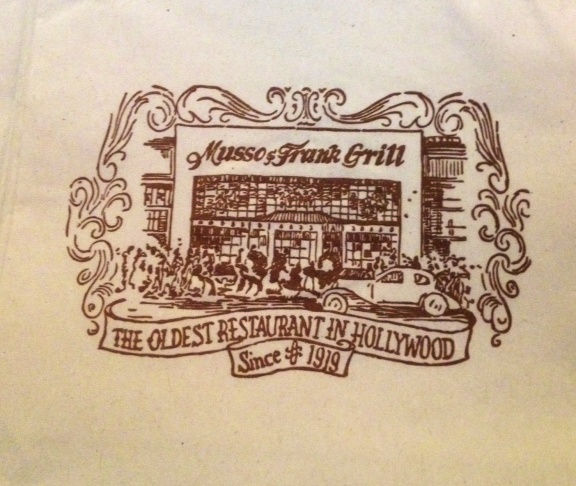 Napkin at Musso & Frank Grill in Hollywood
