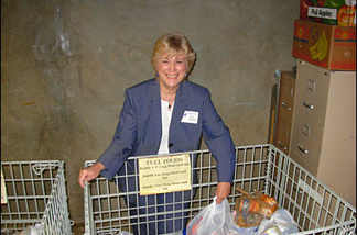Joan Whitenack, executive director of the Foothill Unity Center in Monrovia, a food bank distribution center.