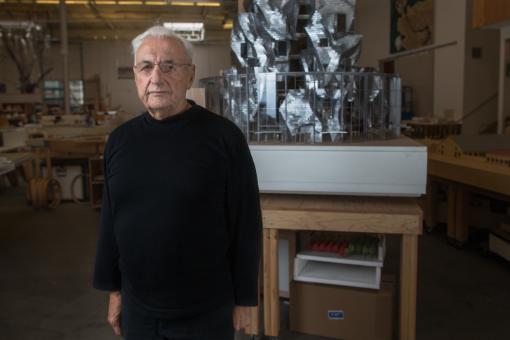 File: Architect Frank Gehry in his Marina Del Rey studio.