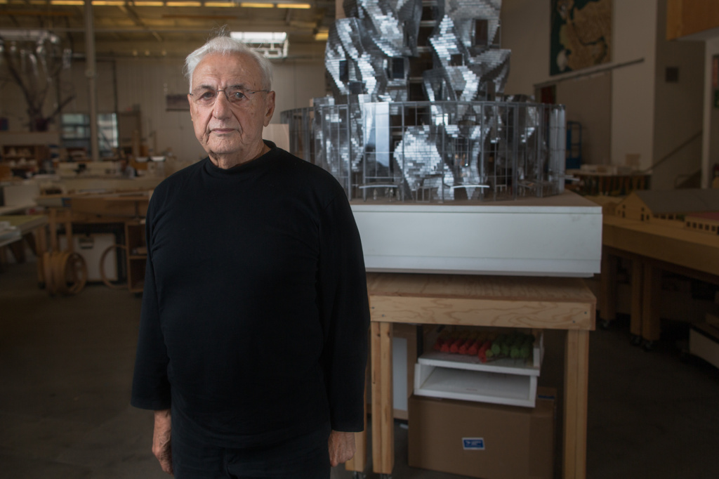 Architect Frank Gehry in his Marina Del Rey studio.