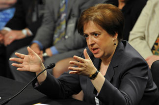 US Supreme Court nominee Elena Kagan testifies on the second day of her confirmation hearings on Capitol Hill on June 29, 2010 in Washington, DC.