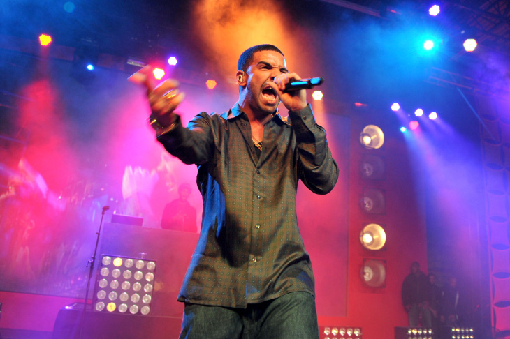 Rapper Drake performs at ESPN The Magazine's