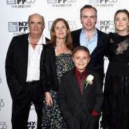 "Colm Toibin, Finola Dwyer, James DiGiacomo, John Crowley, Saoirse Ronan and Nick Hornby attend the 53rd New York Film Festival premiere of ""Brooklyn."""