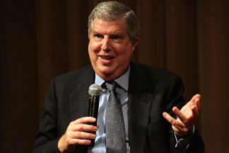Composer Marvin Hamlisch attends a Society of Composers & Lyricists/ASCAP Q&A prior to a screening of 'The Informant!' at the Linwood Dunn Theater on November 18, 2009 in Los Angeles, California.