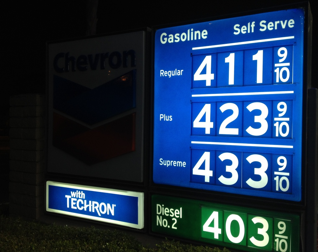 File photo: The average U.S. price of gasoline has jumped 9 cents a gallon in the past two weeks, bringing the total increase to 40 cents over 10 weeks.