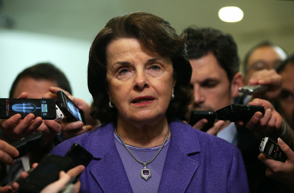 California Sen. Dianne Feinstein awaits