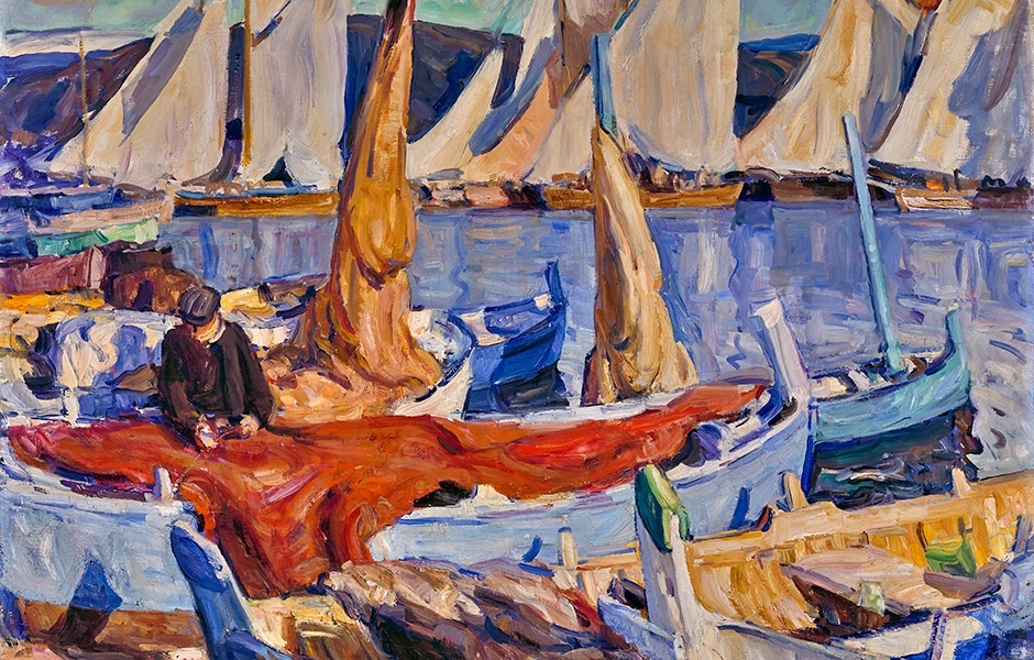 Drying Sails, St. Tropez, 1926
