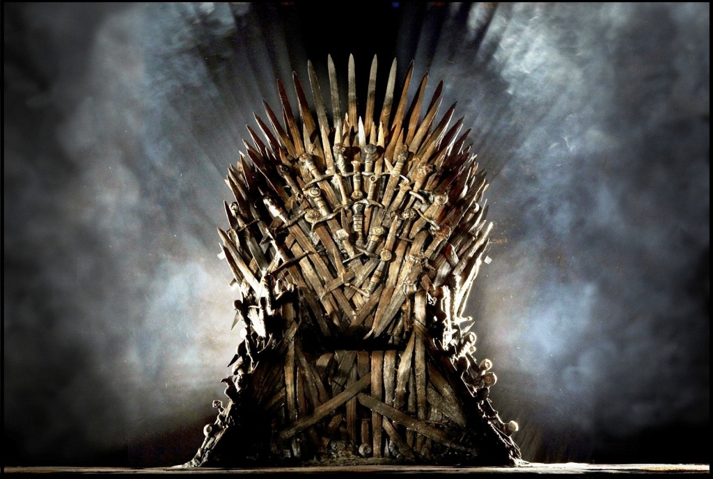 The much sought after iron throne from Game of Thrones.