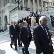 House Democrats walk out of the US Capit