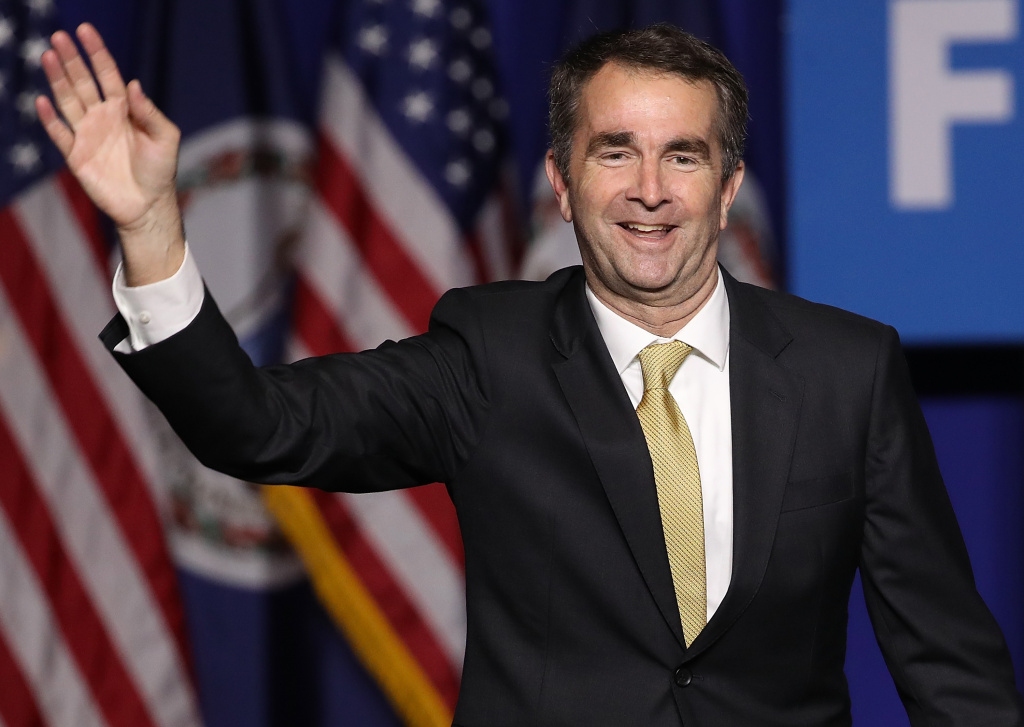 Virginia Governor-elect Ralph Northam waves to supporters at an election night rally November 7, 2017 in Fairfax, Virginia. Northam defeated Republican candidate Ed Gillespie.