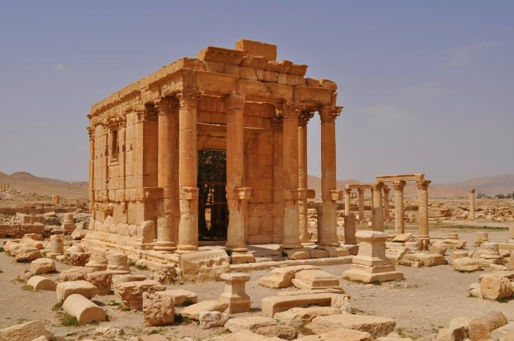 Image of the Baal Shamin temple - before it was destroyed