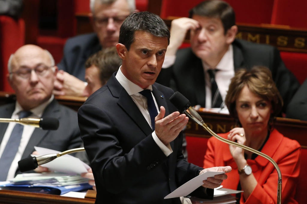 French Prime Minister Manuel Valls speaking during a session of the French National Assembly in Paris on Dec. 9, 2015.