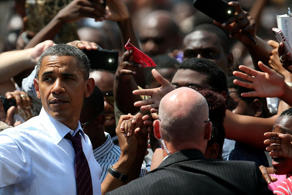 President Barack Obama greets supporters during a campaign rally at Norfolk State University on Sept. 4, 2012 in Norfolk, Virginia. On Thursday President Obama will officially accept his presidential nomination at the 46th Democratic National Convention in Charlotte, North Carolina.
