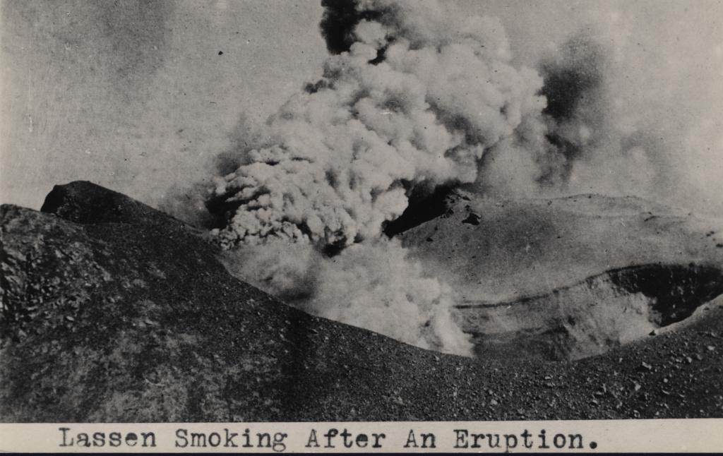 Steam and ash cloud from Lassen Peak eruption.