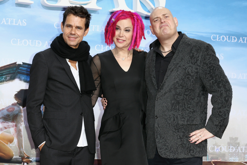 (L-R) Tom Tykwer, Lana Wachowski and Andy Wachowski attend the 'Cloud Atlas' Germany Premiere at CineStar on November 5, 2012 in Berlin, Germany.