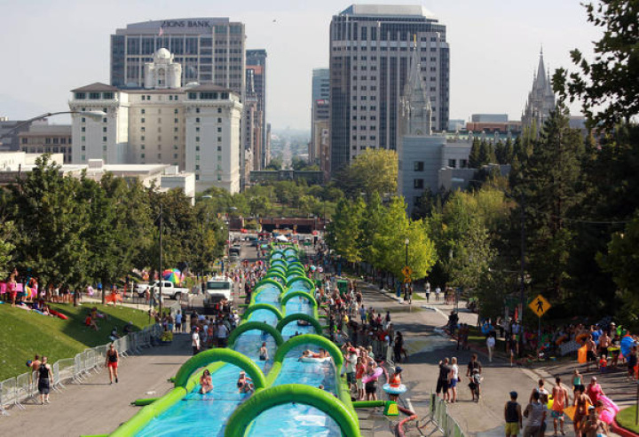 Slide the City events have taken place in several cities already, but a proposal to come to California during the worst drought in modern history has many saying