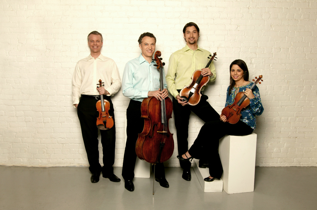 The Pacifica Quartet. Masumi Per Rostad, viola; Brandon Vamos, cello; Sibbi Bernhardsson, violin; Simin Ganatra, violin.
