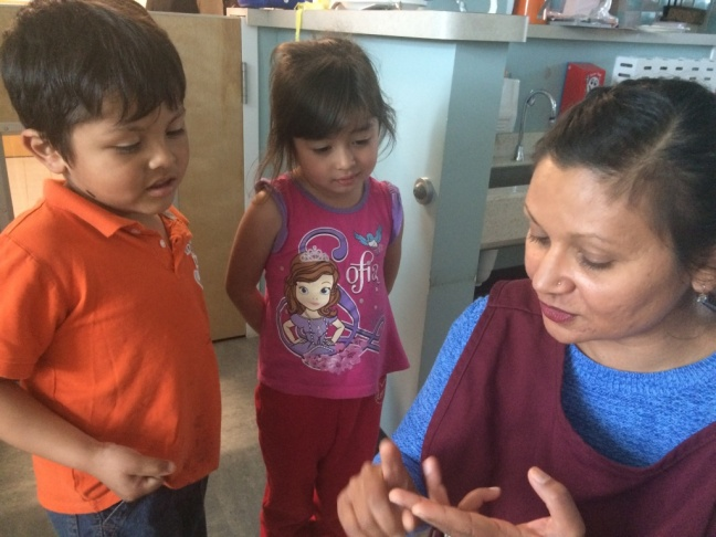 Educare preschool teacher, Roopali Born, listens to her students and creates her lessons based on areas the children want to explore.