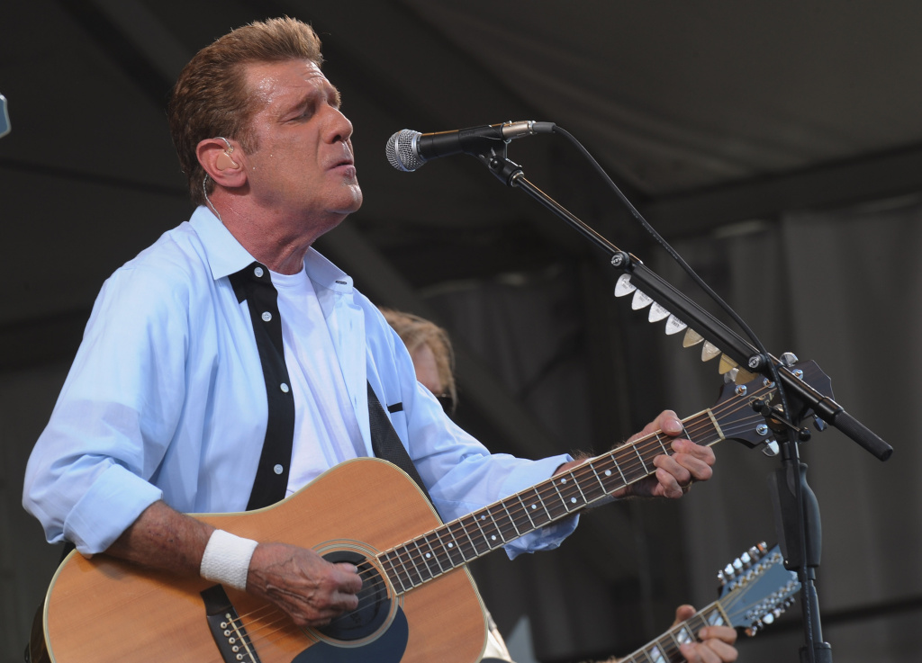 Glenn Frey of The Eagles performs during the 2012 New Orleans Jazz & Heritage Festival.