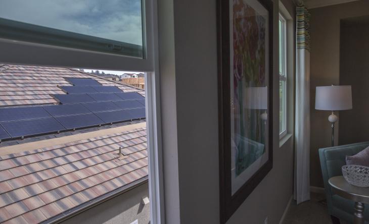 Energy-saving light bulb in a KB Home Double Net Zero home which it bills as a zero net energy user, in El Dorado Hills, Calif., Feb. 26, 2016.
