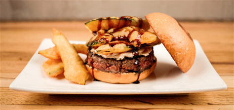 Umami Burger served a Pumpkin Spice Latte Burger at participating locations in 2014 as a jab at the growing pumpkin spice trend.