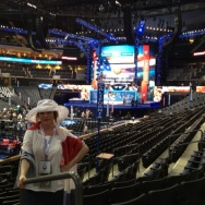 Patt Morrison at the Time Warner Cable Arena for the DNC