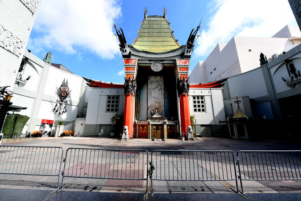 The TLC Chinese Theatre is shown on April 11, 2020 in Hollywood, California.