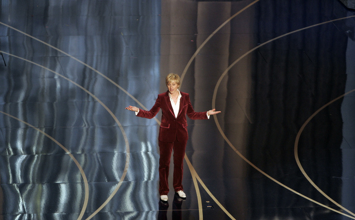 Ellen DeGeneres presents at the 79th Academy Awards in Hollywood, Feb. 25, 2007.