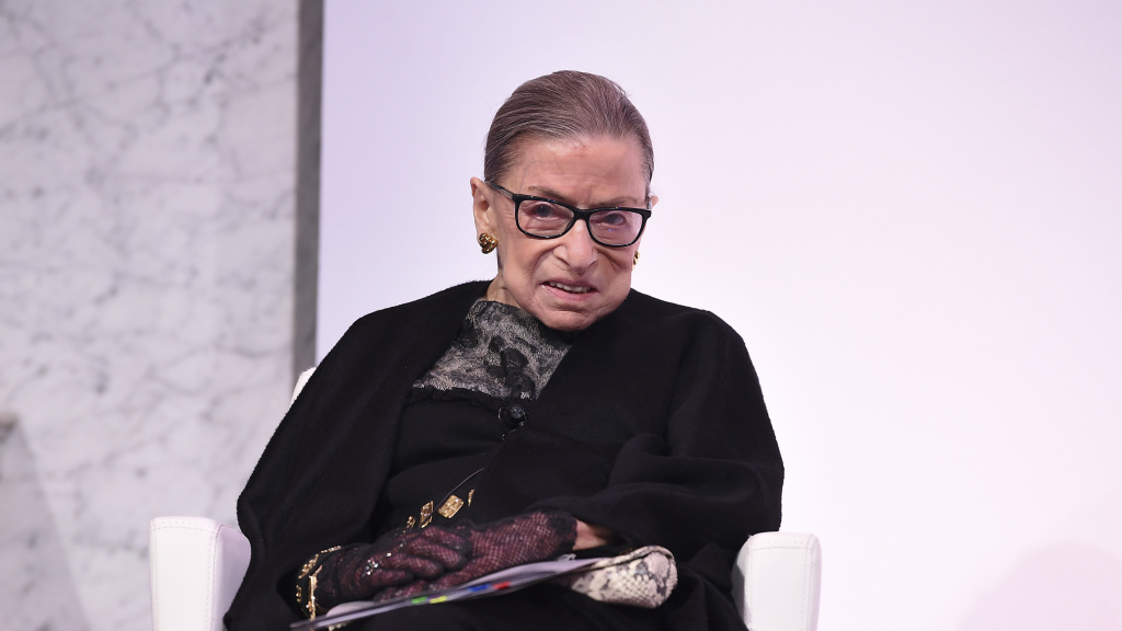Supreme Court Justice Ruth Bader Ginsburg, pictured on Feb. 19, revealed Friday that she began undergoing chemotherapy in May for a new cancer diagnosis.