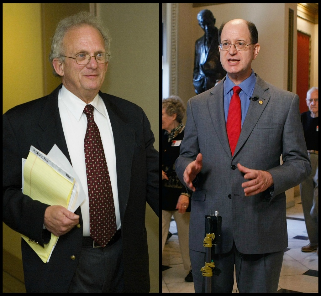 Democrats Howard Berman and Brad Sherman, the leading candidates vying over the San Fernando Valley congressional district.