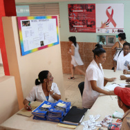 A pregnant woman in Cuba with HIV would be referred to a policlinic, like the one above, for specialized care.