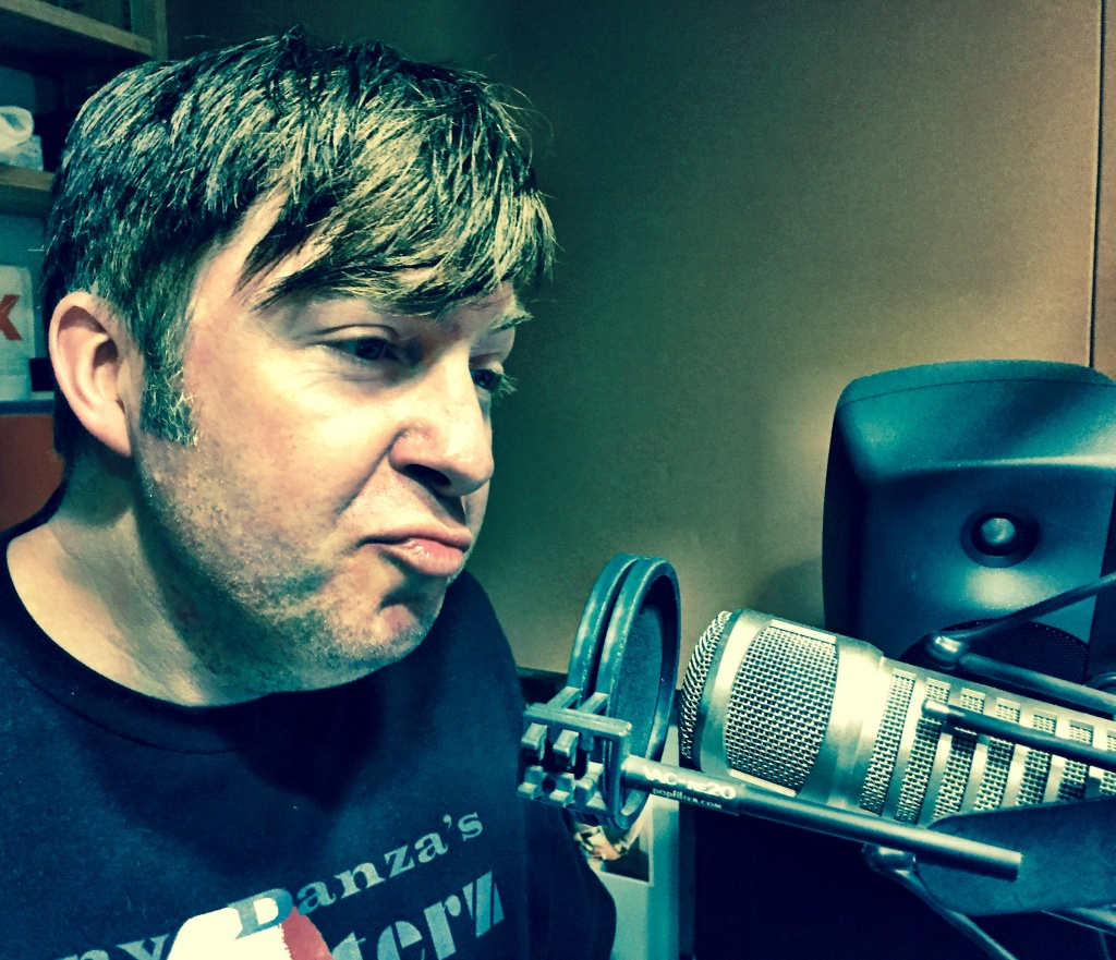 Actor, comedian, and writer Steven Benaquist giving us a little Tony Danza in the Off-Ramp studio