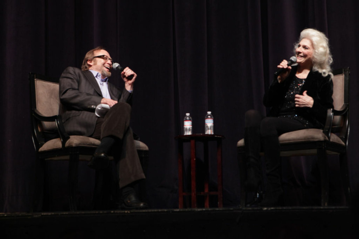 Stephen Stills and Judy Collins at Writers Bloc event, Saban Theater, Feb. 4, 2013