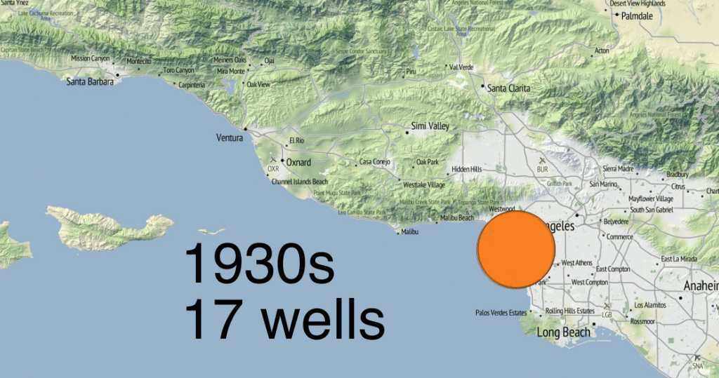 A decade-by-decade display of how many active gas storage wells are still in use by Southern California Gas Company. Source: Division of Oil, Gas and Geothermal Resources and SoCalGas