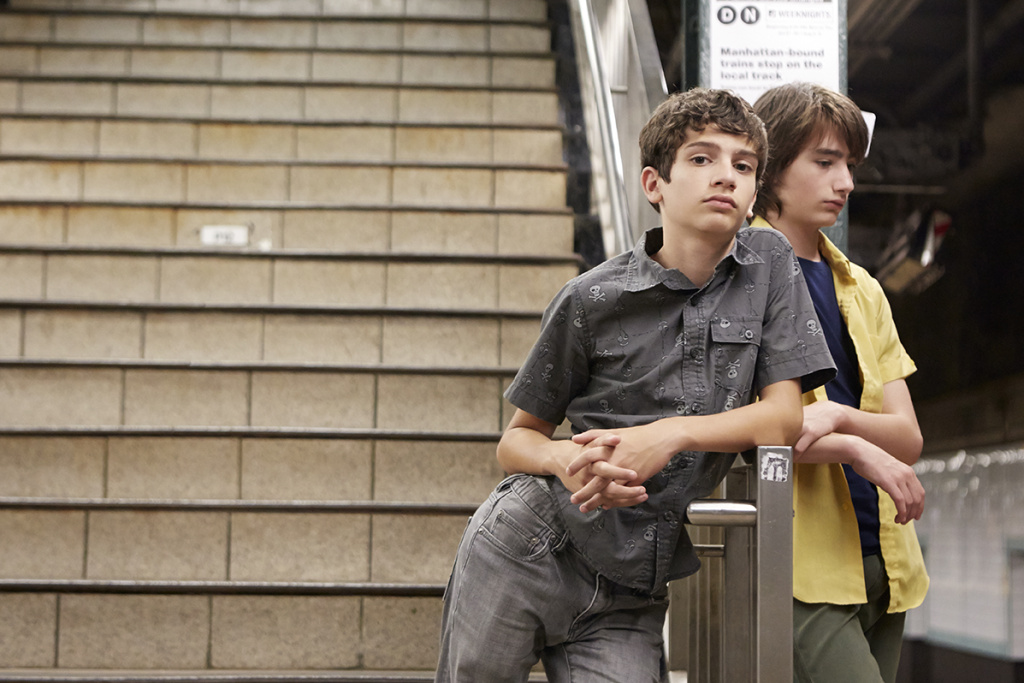 Michael Barbieri and Theo Taplitz in LITTLE MEN, a Magnolia Pictures release.