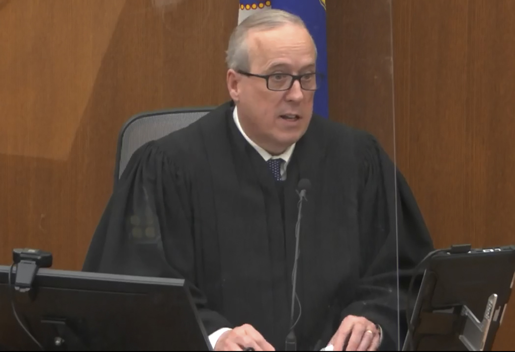 In this screen grab from video, Hennepin County Judge Peter Cahill presides over jury selection in the trial of former Minneapolis police officer Derek Chauvin on Tuesday, March 9, 2021 at the Hennepin County Courthouse in Minneapolis. Chauvin is charged in the May 25, 2020 death of George Floyd.
