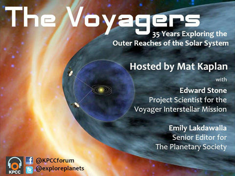 It's the 35th anniversary of NASA's Voyager Interstellar Mission, and we're celebrating in KPCC's Crawford Family Forum.