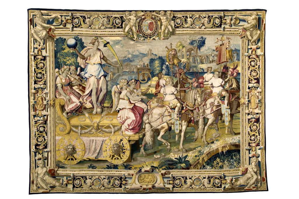The Chariot of Triumph Drawn by Four Piebald Horses (also known as The Golden Chariot), about 1606 - 1607. Image © Le Mobilier National.