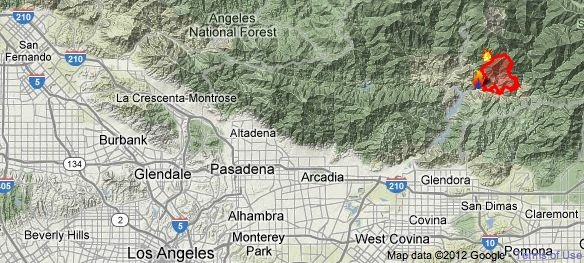 Azusa Canyon Fire Map.7 Firefighters Sustain Minor Injuries Battling Fire Above Azusa