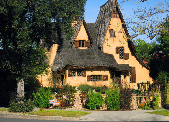 Take two slideshow storybook homes how hollywood made for Witches cottage house plans