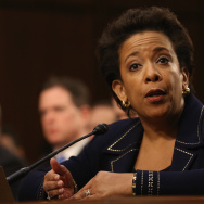 U.S. Attorney for the Eastern District of New York Loretta Lynch testifies during her confirmation hearing before the Senate Judiciary Committee