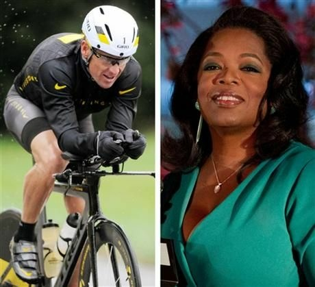 FILE - This combination image made of file photos shows Lance Armstrong, left, on Oct. 7, 2012, and Oprah Winfrey, right, on March 9, 2012. Armstrong plans to admit to doping throughout his career during an upcoming interview with Oprah Winfrey, USA Today reported late Friday, Jan. 11, 2013.